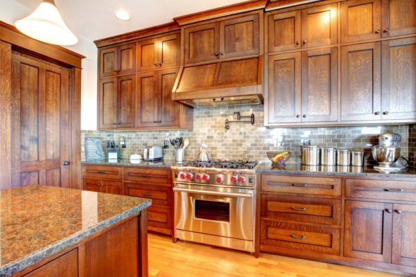 Luxury Kitchen Remodel with Pine Wood Cabinets